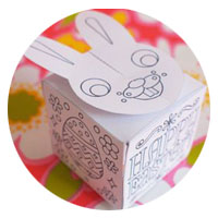 easter bunny egg treat box