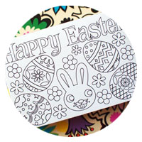 coloring in easter box