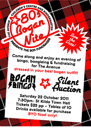 Bogan Bingo flyer